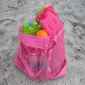 Precio más bajo! extra large arena bolsa de malla de Los Niños Juguetes de Playa Ropa de playa Juguetes Ropa Toalla Bolsa de bebé de juguete colección nappy
