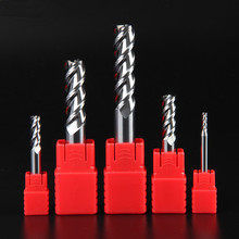 ZGT Aluminum End Mill HRC55 3 Flute Tungsten Steel Milling Cutter Carbide Metal For Copper Processing