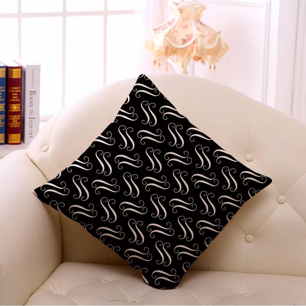 Miracille Cushion Қара және Ақ Геометрия - Үй тоқыма - фото 3
