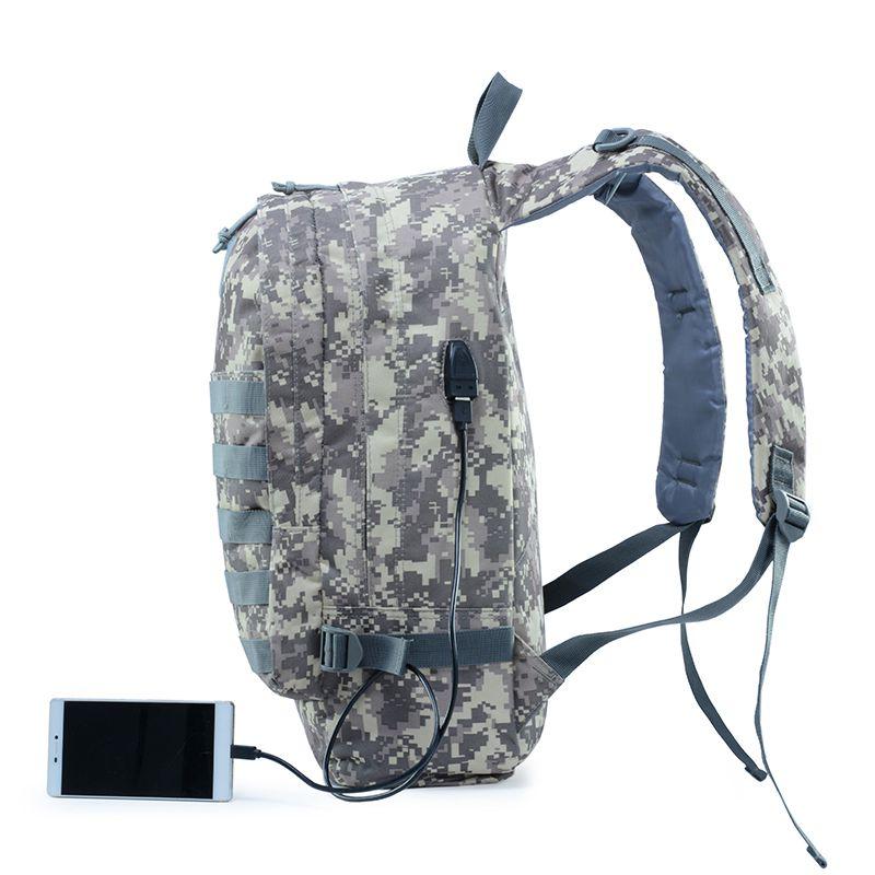 Militare Di Caccia Zaini Acu Ricarica P Campeggio Borse Molle Pacchetto Army Assalto Il Trekking Sacchetto Outdoor Per Usb Foro Uomo Tactical 3 qxpwCS