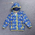 Retail Free shipping 2017 Fashion boy minions Jackets cartoon coats Children's Autumn outwear kids windbreaker boys thin coat