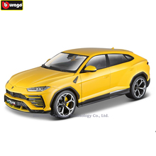 Bburago 1:18 Lamborghini URUS Bison manufacturer authorized simulation alloy car model crafts decoration collection toy tools цены
