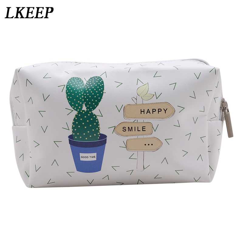 ... Korean Style Toiletry Bags Travel PU Leather Cosmetic Bag Small  Organizer Women Makeup Bag Make up ... 9def6b3163e5a