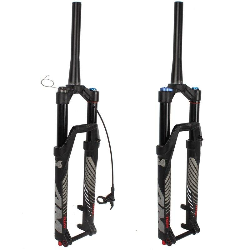 "LUTU 26//27.5//29/"" Mountain Bike Suspension Fork 140mm Thru Axle Tapered Air Forks"