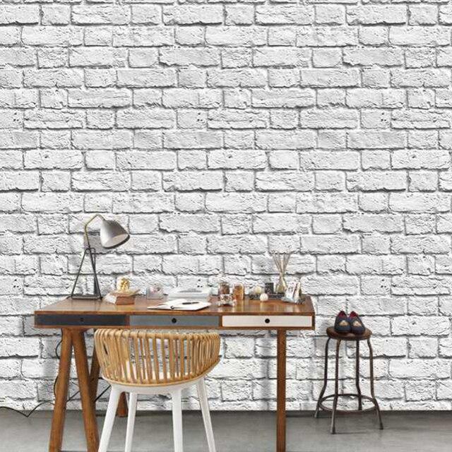 Rustique Brique Gris Mur Salon Fond 3d Brique Papier Peint Murale