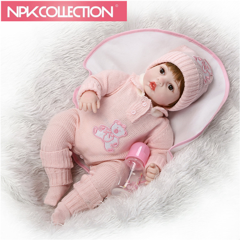 Fashion About 20 50cm Baby Dolls Silicone Reborn Doll pink Girl Toys Early Education Dolls Princess Birthday Gift Kid's Toy N31 handmade chinese ancient doll tang beauty princess pingyang 1 6 bjd dolls 12 jointed doll toy for girl christmas gift brinquedo