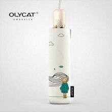 Olycat dobrável guarda chuva chuva feminino qualidade automática impermeável à prova de vento anti uv feminino marca genuína