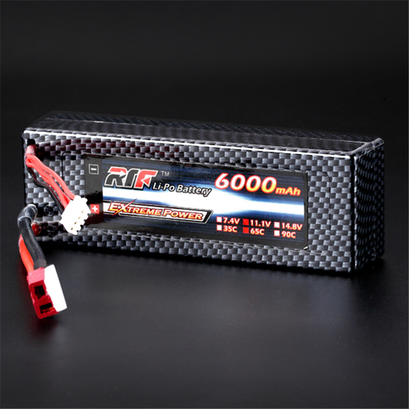 High Quality Reachargeable Lipo Battery Giant Power 11.1V 6000mAh 3S 65C Lipo Battery T Plug Hardcase Pack For RC Model 1s 2s 3s 4s 5s 6s 7s 8s lipo battery balance connector for rc model battery esc