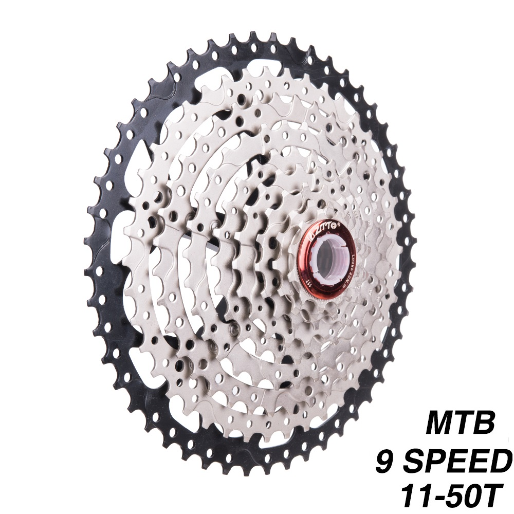 9 Speed Cassette 11-50T Mountain Bike Wide Ratio MTB Bicycle 9S Freewheel Compatible with Shimano M430 M4000 M590