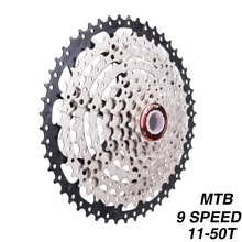 9 Speed Cassette 11-50T Mountain Bike Wide Ratio MTB Bicycle 9S Freewheel Compatible with Shimano M430 M4000 M590 shimano acera rd m3000 alivio m4000 m2000 sgs mountain bike bicycle rear derailleur 9 speed original