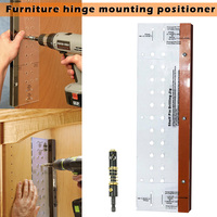 Hinge Mounting Tool Self Centering Shelf Pin with Drilling Jig Bit for Door Cabinet Furniture CLH@8