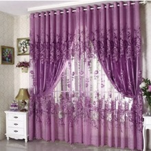 100x250cm 1pc   Curtain  Punching Half Shading Rotten  Curtain
