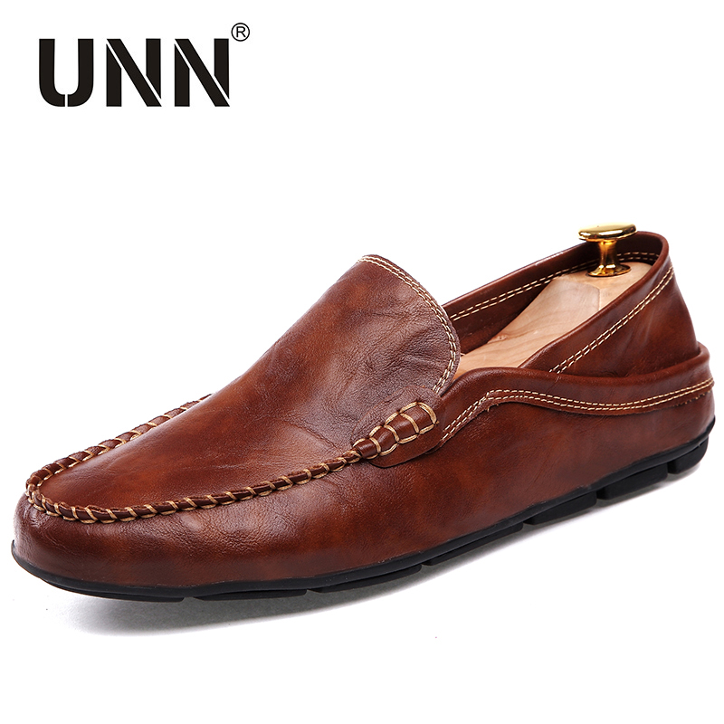 shoes luxury brand loafers pu leather driving shoes
