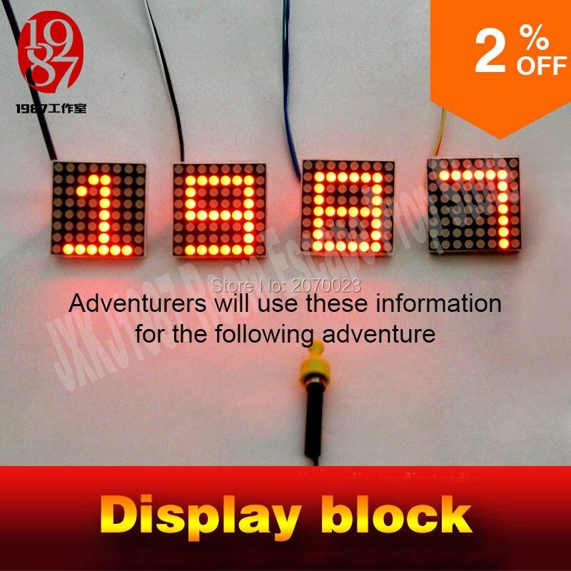bilder für Display block für room escape puzzle geräte, wenn magnetic schließen zu erhalten display versteckte geheimnisvolle hinweise