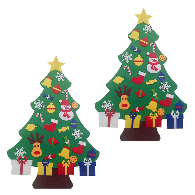 Home kids fieltro diy rbol de navidad con adornos ni os - Arbol de navidad de fieltro ...