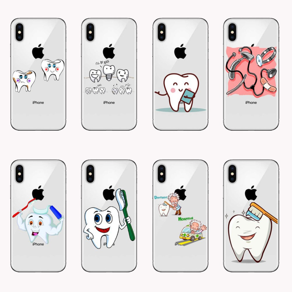 Fitted Cases Phone Bags & Cases New Medical Industry Doctor Nurse Teeth Occupation Phone Case Coque For Iphonex 8 6s 7 6plus 5 Silicone Cover To Help Digest Greasy Food