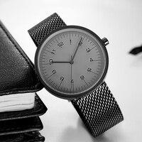 2017 Fashion Trends Watch Men Luxury Brand Quartz Watches Minimalist Style Fine Mesh Strap Wristwatch Japan