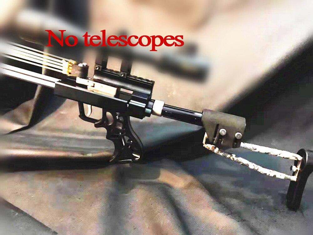 Lengyue4 Rifle Slingshot Hunting Catapult Powerful Stainless Slingshot For Outdoor Hunting Shooting Double Shaft Bearing Sliding