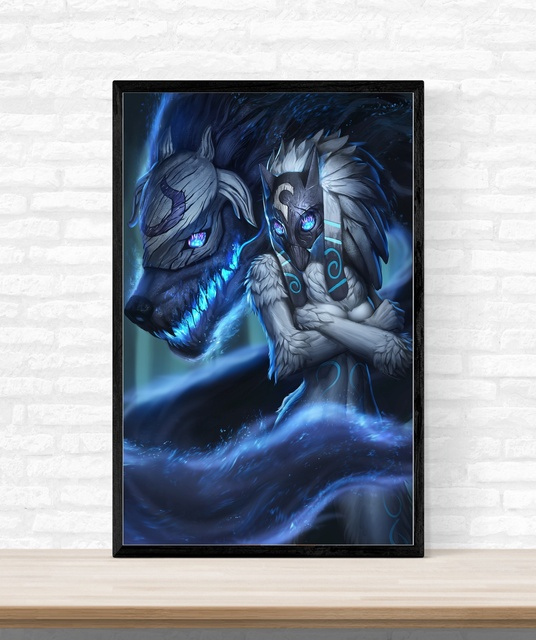 League Of Legend LOL Game Poster Wall Art Silk Home Decor No Frame ...