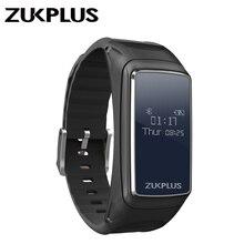 Zukplus Smart Watch Z1 Bluetooth Earphone Wristband OLED Screen Heart Rate Monitor Active Tracker Sports Bracelet