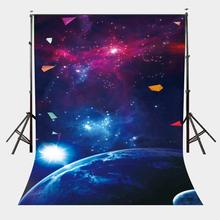 5x7ft Starry Universe Backdrop Bright Stars Large Earth Photography Background цена и фото