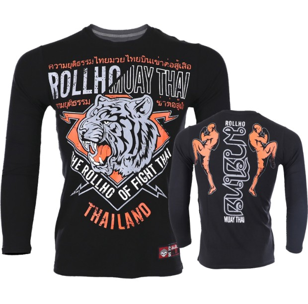 Soft Monkey ROLLHO Sport Male Muay Thai Tiger Fighting  Long-sleeved T Shirt Broadcasting Asked For Thai Sports Sanda Male Fi