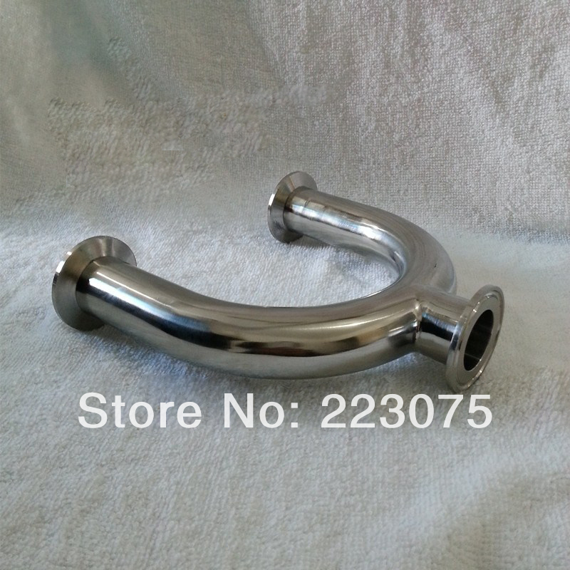 New arrival  Stainless Steel SS304 quick install OD 57mm Sanitary Clamp connection 3 ways U  Pipe Fitting for all time uab cd