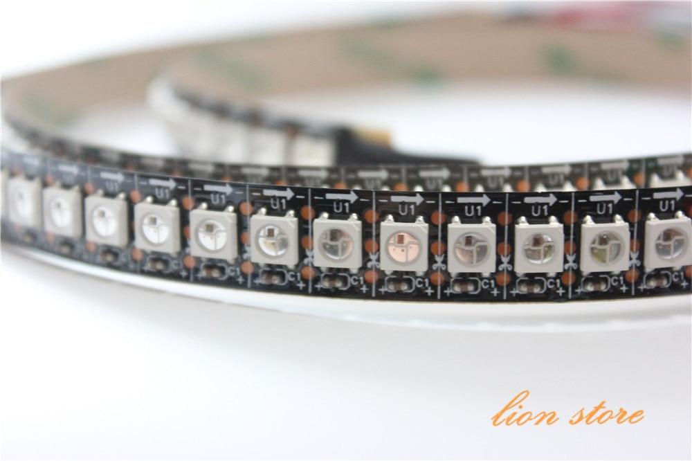 144 Pixels/M WS2812B Chip White/Black PCB WS2811 IC Digital RGB LED Strip Light DC5V Non Waterproof