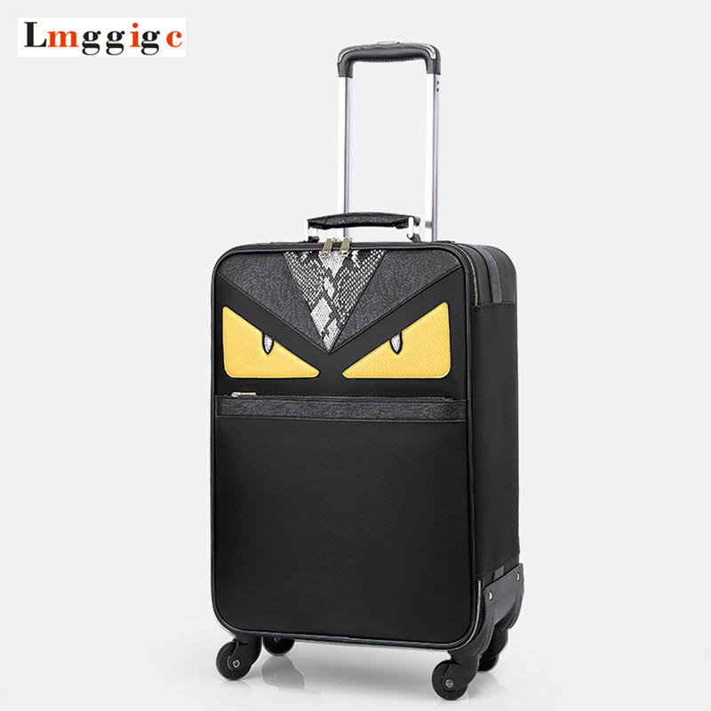Monster Luggage Carry-on,PU leather Suitcase,Universal wheels Trolley Carrier,2024 inch Lightweight drag box with Laptop Bag
