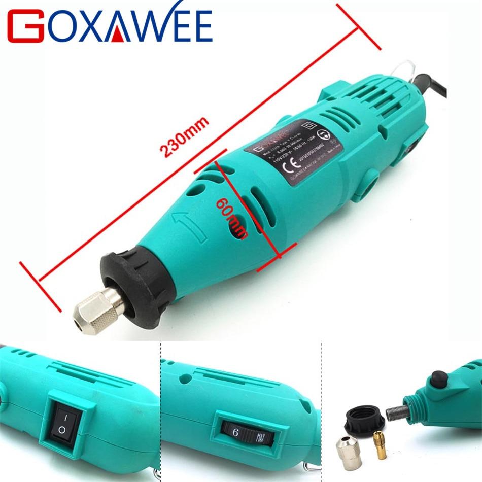 GOXAWEE 130W Smerigliatrice elettrica a trapano elettrico a velocità - Utensili elettrici - Fotografia 3