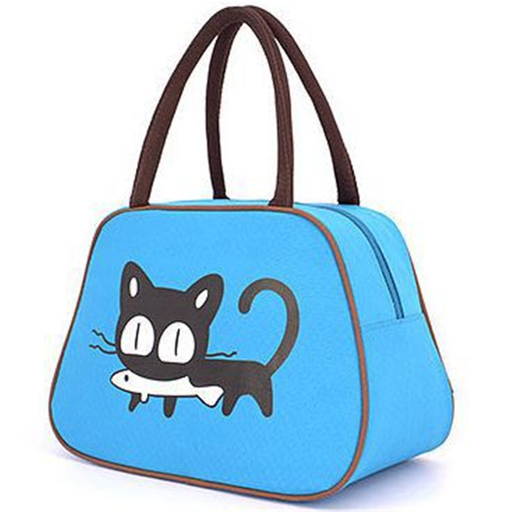 f468f975ee 2017 Hot Selling Cartoon Kitten Handbag Canvas Casual Shoulder Bag Cat Bag  Little girl handbag Waterproof Mummy Bag-in Top-Handle Bags from Luggage    Bags ...