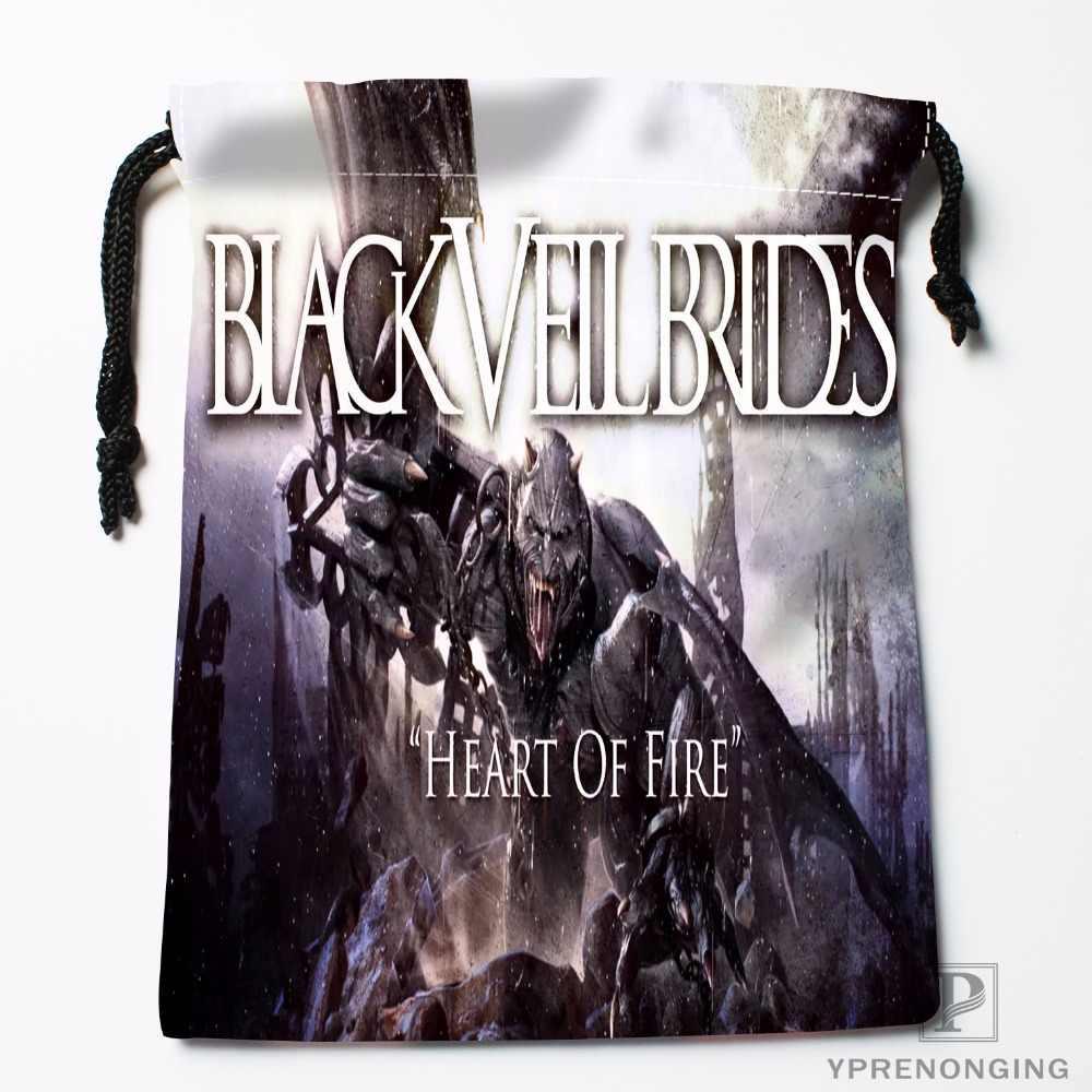 Personalizado velo negro novias cordón bolsas viaje almacenamiento Mini BOLSA natación senderismo juguete bolsa tamaño 18x22 cm #0412-03-05