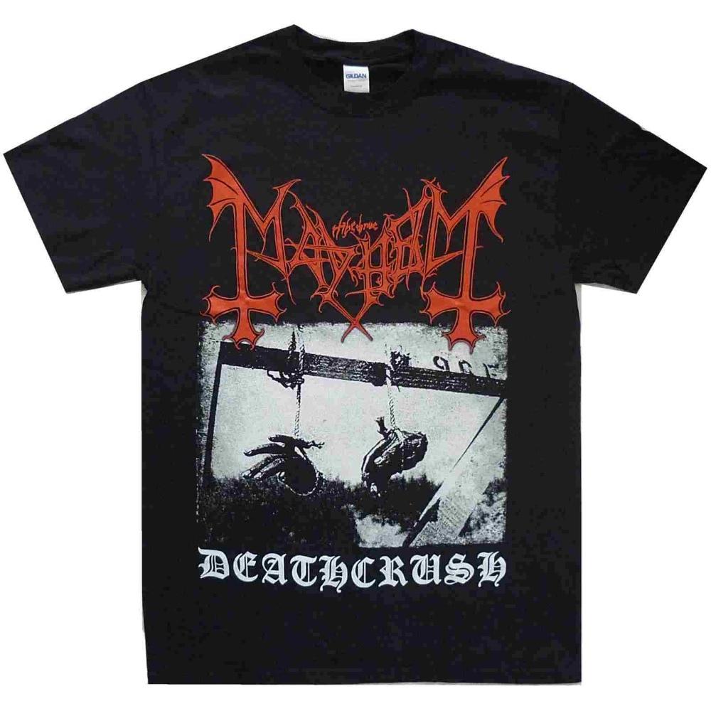 Mayhem Deathcrush Black Shirt S M L XL Official Metal T-Shirt Band Tshirt New
