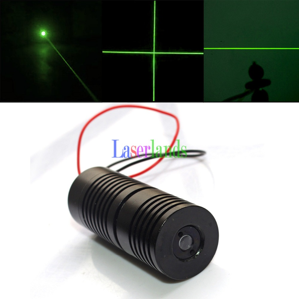 25*65mm 532nm Green Dot Line Cross Laser Diode Module 100mW 150-200mW with Glass Lens 16 50mm 9 0mm laser diode housing w 405nm glass lens