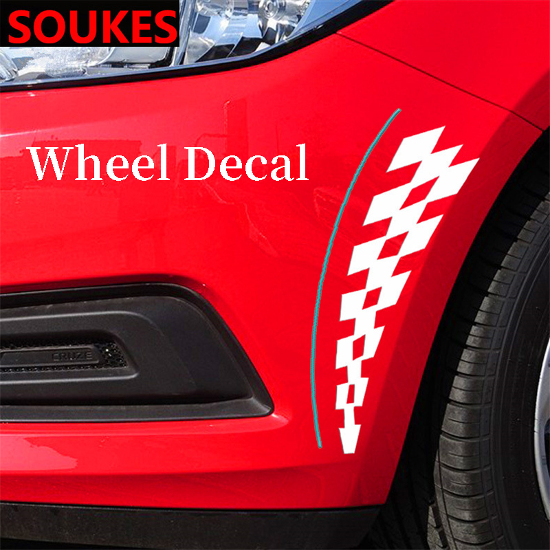 Car Warning <font><b>Wheel</b></font> Rim Eyebrow Safety Decal Sticker For <font><b>Peugeot</b></font> 307 206 308 407 207 2008 3008 508 <font><b>406</b></font> 208 Mazda 3 6 2 CX-5 CX5 CX image