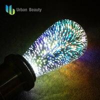 Urban Beauty Led Light Bulb E27 Led Lamp 3D Decoration Bulb Holiday Lights St64 Novelty Lamp