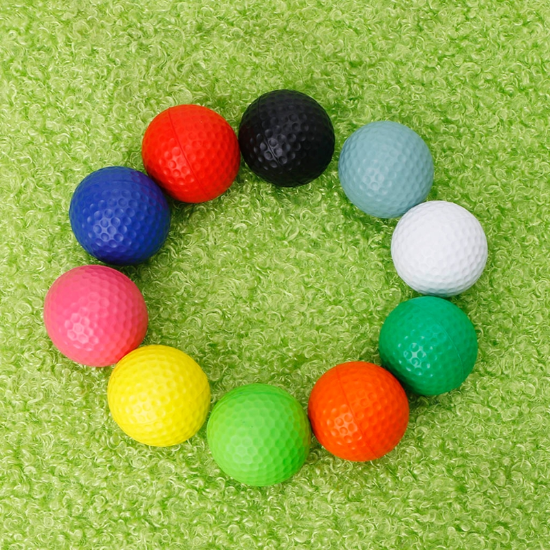 10pcs/lot Professional Practice Golf Balls Course Play Toy Indoor Outdoor Training Golf Accessories Color Random delivery