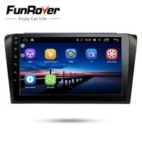 Funrover 2 din Car Radio Multimedia headunit Android8.0 DVD Player for Mazda3 mazda 3 2004 2009 9 stereo navi gps factory price