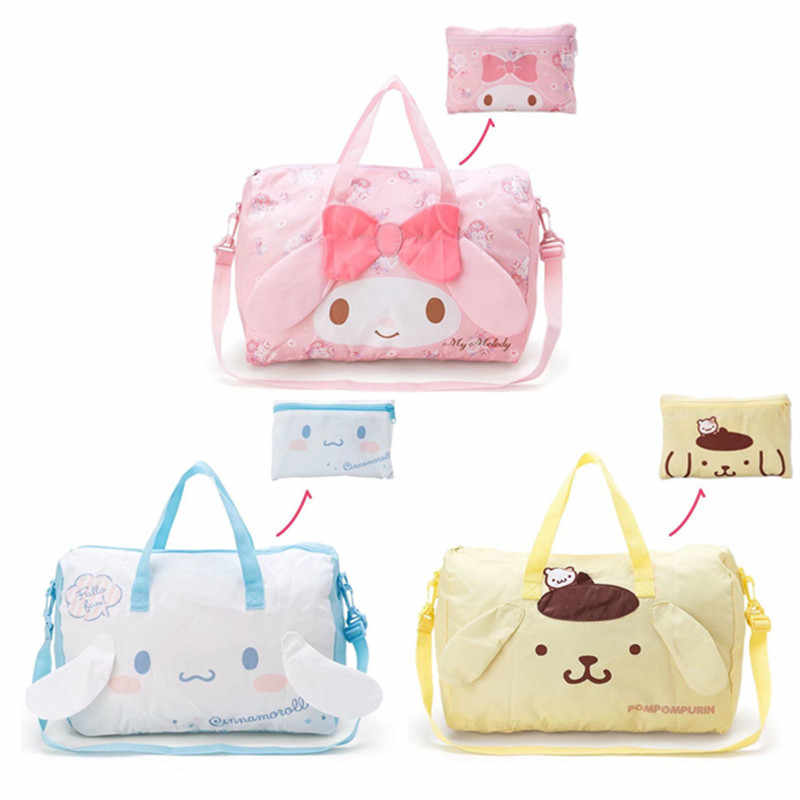 Nette Cartoon Cinnamoroll My Melody Faltbare Folding Trolley Reisetasche Rosa Frauen Mädchen Tote Duffle Taschen Hand Gepäck Tasche