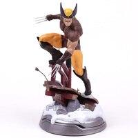 Marvel Logan Statue PVC Figure Collectible Model Toy (can exchange haed) 23.5cm