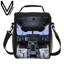 VEEVANV Brand 2017 Engine Room Lunch Boxs New 3D pu Prints Cooler Boxs Lunch Bags Men Storage Picnic Bag Lunch Portable Handbags