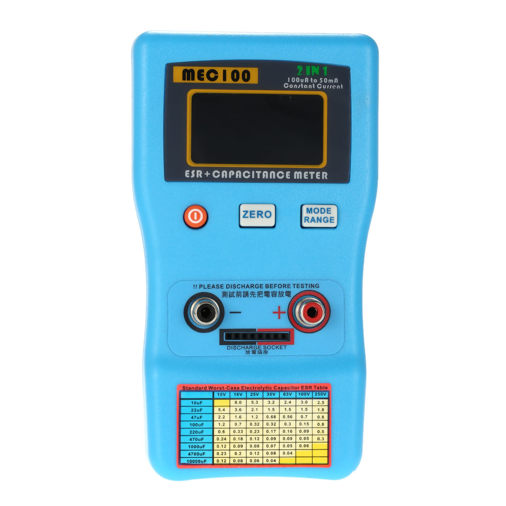 Digital Capacitor Esr Tester Internal Resistance Meter Test In Circuit 2 1 Auto Ranging Quality Capacitance Measurement With Smd Clips