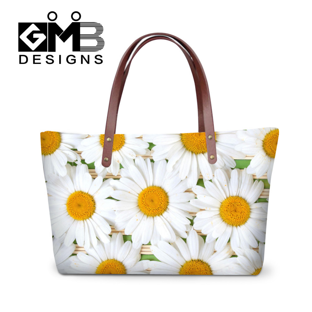 Women Handbags 2016 Fashion Ladies Summer Beach Bags Flower Print Hand Bags Girl Female Crossbody Bags Casual Tote Bolsos Mujer handmade flower appliques straw woven bulk bags trendy summer styles beach travel tote bags women beatiful handbags