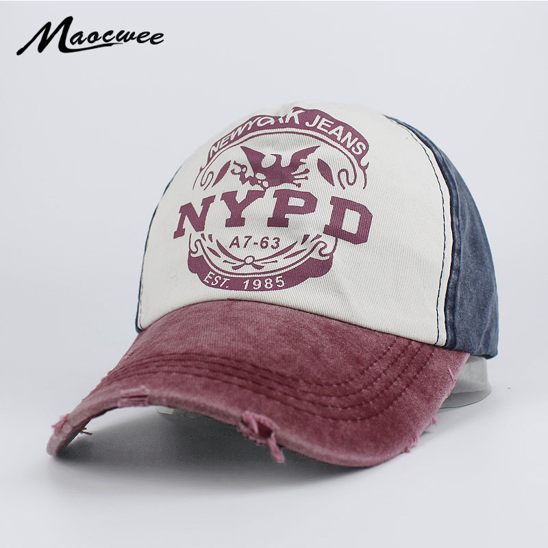 68770866 Recreation Washed Retro Baseball Cap NYPD Fashion Baseball Cap Snapback Hat  Cap Men Women Casual Adjustable Hats Bone Gorra 2018