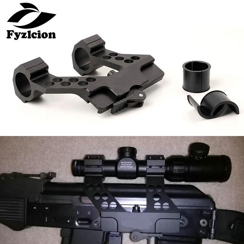Hunting AK Quick Detach AK Side Rail Scope Mount With Integral 1 Inch/30mm Ring For AK47 AK74 Black