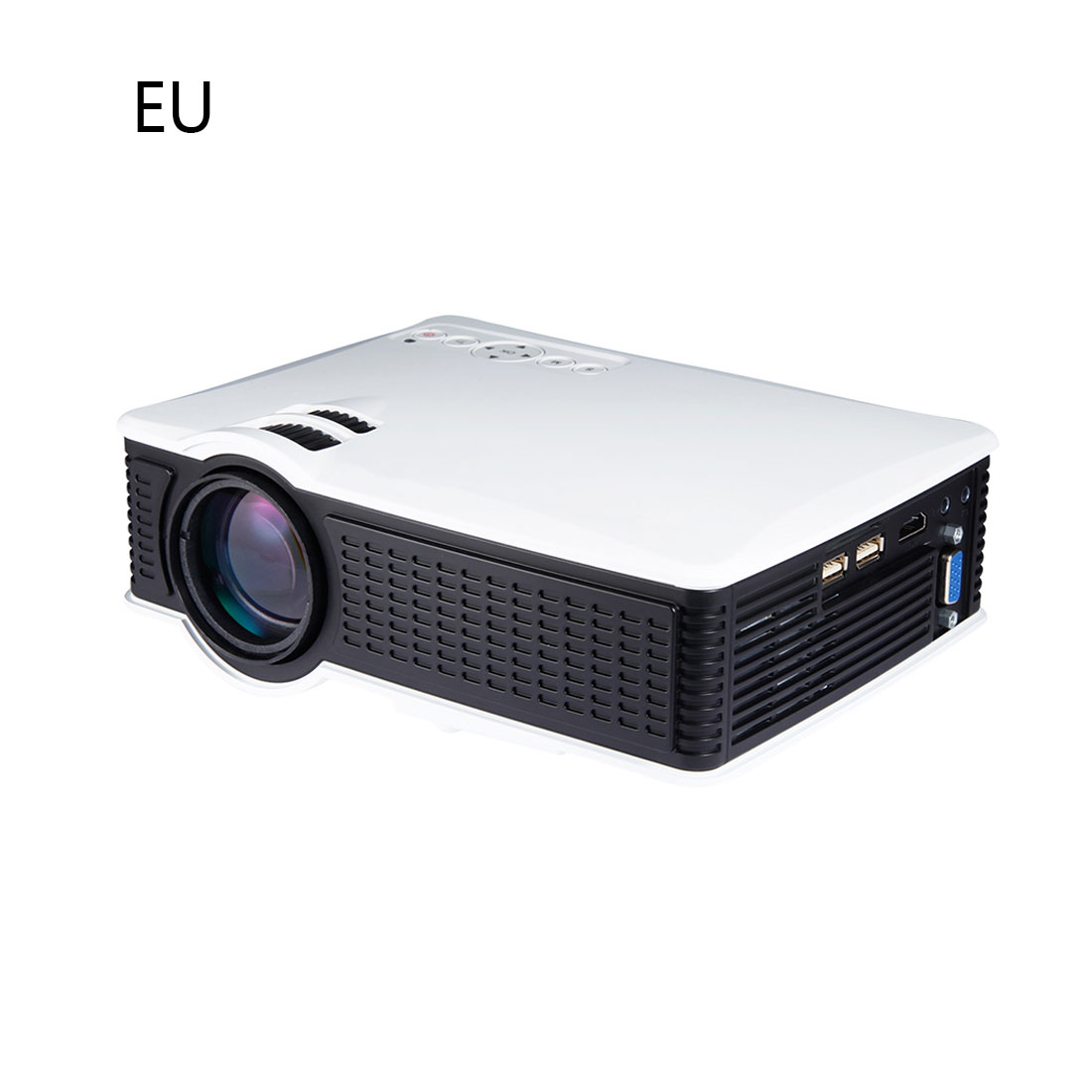 centechia LY40 Useful LCD Projector 800X480 EU Plug 1080P With HDMI USB AV SD Input For Private Theater Children Education