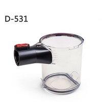 1 pcs sem fio aspirador de pó peças D 531 D 532 D 535 poeira copo transparente poeira balde Componentes|Peças p/ aspirador de pó| |  -