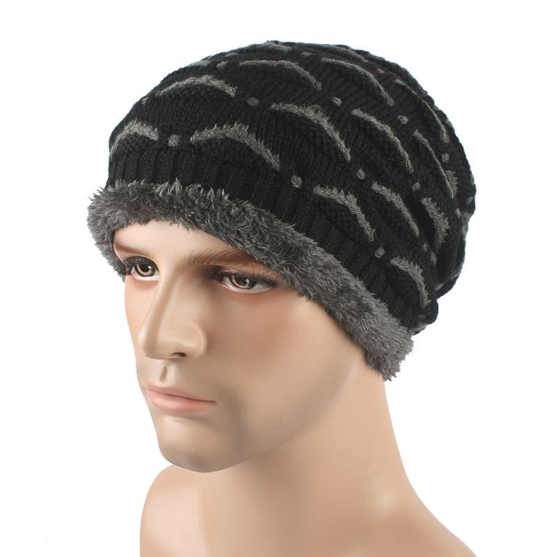 Brand New Men Winter Knitted Hats Skullies Fur Warm Caps For Women winter Beanies hats Unisex skullies