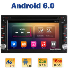 Android 6.0 Quad Core 2GB RAM+16GB ROM 4G LTE SIM WIFI 2Din Universal Car Player Radio Stereo For GETZ Verna Click Tuscan Nissan
