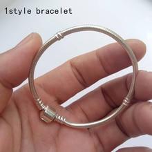 100% 925 Sterling Argent Bracelets Européenne D'origine Serpent Chaîne Bracelet pour Perles Charmes 16-20 CM Diy necklate Bracelet